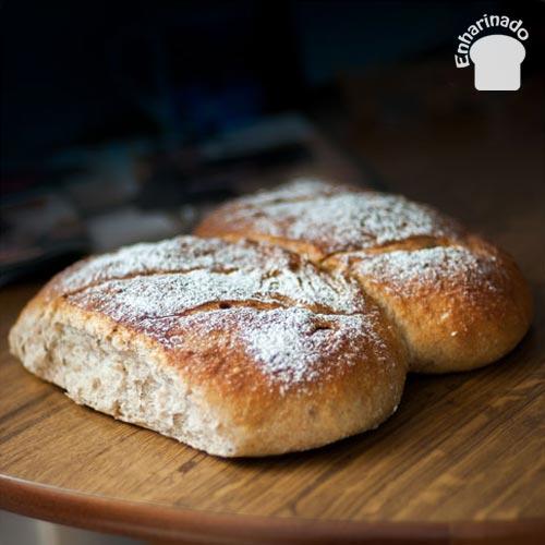 Pan de espelta y papas