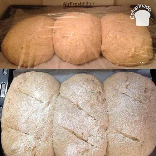 Pan de espelta y papas - Elaboración