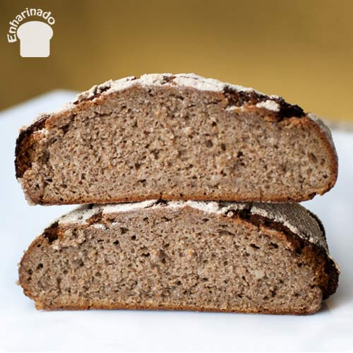 Pan broa de maíz y centeno - Cortado