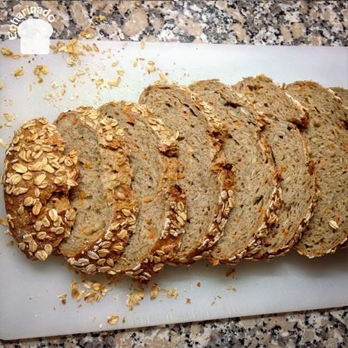 Pan de zanahoria - Cortado