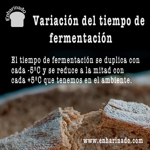 Variación del tiempo de fermentación