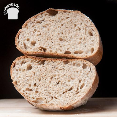 Pan campesino 100% masa madre de trigo - Corte