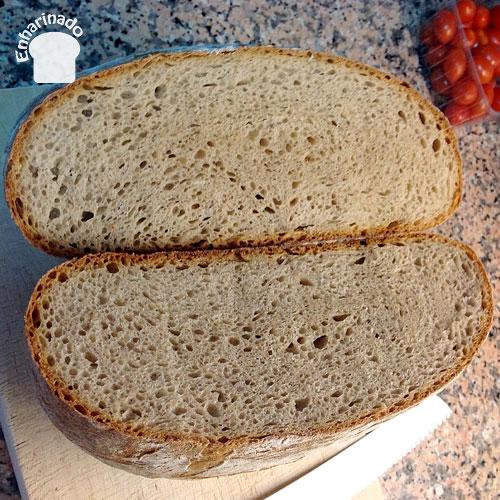 Pan de espelta jugoso - Corte y miga