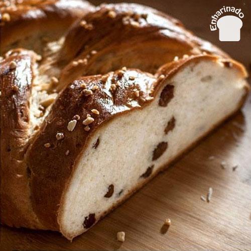 Pan dulce trenzado tipo Challah