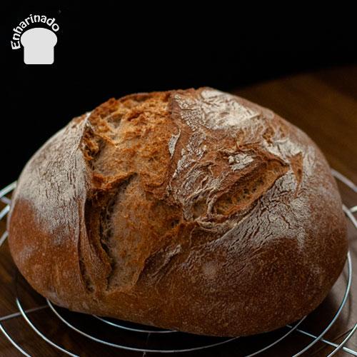 Pan campesino con y sin masa madre