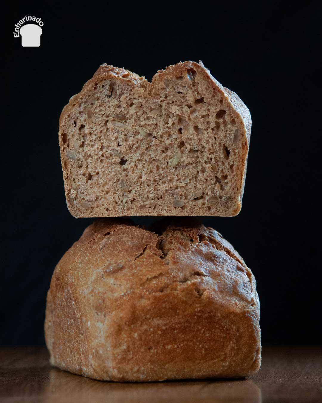 Pan de espelta integral con semillas de girasol